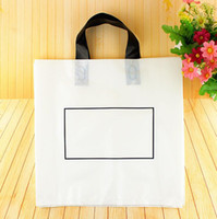 Wholesale plastic boutique gift bag resale online - Thicken Large Plastic Shopping Bags For Boutique Packaging clothing shop White Plastic Gift Bag With Handle