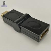 cable hdtv de la computadora al por mayor-300 unids / lote HDMI macho a HDMI adaptador de cable convertidor extensor 180 grados de ángulo para HDTV Ordenador de la cámara proyector hdmi adaptador