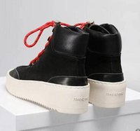 Wholesale god heels resale online - Hot Sale Best FOG Quality Fear of God Top Military Sneakers Hight Army Boots Men and Women Fashion Shoes Martin Boots c7