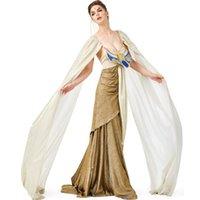 erwachsene prinzessinkleider großhandel-Erwachsene Dame Woman Cleopatra Costume Altes Ägypten Ägyptische Prinzessin Dress 2019 Halloween Gowns