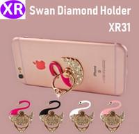 ingrosso incollare diamanti-100 pz Polvere Swan Metallo Diamante Lampeggiante Creativo Multi-funzione Anello Fibbia Pigro Anti-goccia Pieghevole Pasta Del Telefono Mobile Completo Trapano Staffa