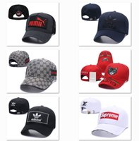 Wholesale snapback leather strapback resale online - Sport Hip Hop Cap Cheap Street Leather baseball cap box logo snapback caps for men Dome Cotton hats casquette strapback Golf ball DF8G18