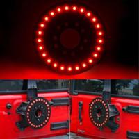 luzes traseiras jeep venda por atacado-Red Terceiro LEVOU Pneu Sobressalente Luz Do Carro-styling Guarnição Da Roda Traseira Luzes de Freio Acessórios Do Carro para Jeep Wrangler JK 2007-2016