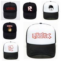 ingrosso souvenir fan-2019 Gioco Roblox Cartoon Kids Sun Berretti da baseball Hat Hip Hop Cappelli Boy Girl Action Toy per bambini Fans regalo di compleanno Souvenir