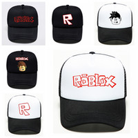 tapa de dibujos animados para niños al por mayor-2019 Juego Roblox Cartoon Kids Sun Gorras de béisbol Sombrero Hip Hop Sombreros Niño Niña Acción Juguete para niños Regalo de cumpleaños Fans Souvenir
