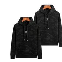 hombres con capucha larga al por mayor-Suéter de los hombres Diseñador de la marca de lujo 2019 Nueva llegada para hombre de manga larga con capucha camisa de moda los hombres con capucha de camuflaje suéter más el tamaño L-5XL