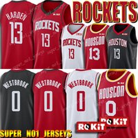 endurecer jersey al por mayor-NCAA Russell Westbrook 0 Jersey James Harden 13 jerseys Hakeem Olajuwon 34 Jersey 2019 New Classics Edición jerseys del baloncesto