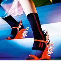 tacones de verano naranja al por mayor-Diseñado de cuña mujer gladiador sandalias vestido de tacón sandalias de boda rosa naranja llama blanca damas zapatos de fiesta verano gato caminar sandalias