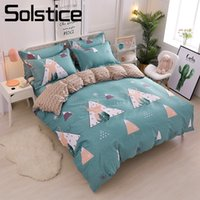 Wholesale teen bedding sets full for sale - Solstice Home Textile Deer Elk Duvet Quilt Cover Pillowcase Bed Sheet Cotton Bedding Sets Boy Girl Kid Teen Linen King Twin