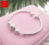 Wholesale heart rhinestone transfer for sale - Group buy Korean fashion transfer bead silver plated bracelet temperament women s versatile Bracelet accessories