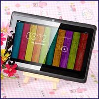 pc livre da tabuleta da polegada do transporte de dhl venda por atacado-7 polegada A33 Quad Core Tablet PC Q8 Allwinner Android 4.4 KitKat 1.5GHz capacitivo 512 MB RAM 4 GB ROM WIFI lanterna dupla câmera Q88 A23 MQ50