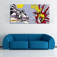 Wholesale big frame for walls for sale - Group buy Roy Lichtenstein Art Canvas Painting Abstract Art For Living Room Wall Pictures Big Size Canvas Prints No Frame