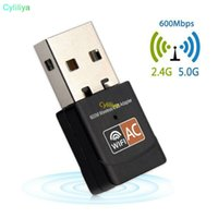 Wholesale dual ethernet adapter resale online - 600Mbps USB WiFi Adapter GHz GHz WiFi Antenna PC Mini Wireless Computer Network Card Receiver Dual Band b n g ac