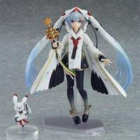 figuras de brinquedo miku venda por atacado-Figma EX-045 Neve Hatsune Miku guindaste Sacerdotisa Ver Anime 15CM Action Figure Toys