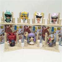 figuras de acción saint seiya al por mayor-Saint Seiya 6 cm 3 estilos Anime Saint Seiya Egg Box Q Versión The Gold Zodiac Acción PVC Figure Collection Modelo Juguetes regalos de los niños