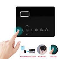 hd video iletim toptan satış-T200 Mini Mikro LED Sinema Taşınabilir Video HD USB HDMI Projektör Ev Sineması Kısa Odak Tasarım T200 Iletim Ekranı için