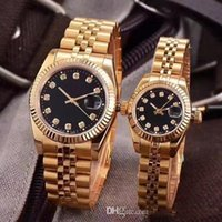Wholesale womens watches digital online - Couples Style Classic Automatic Movement glide smooth second hand Mechanical Fashion Mens Womens Watch Stainless Steel Strap Watches