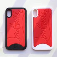 ingrosso moda nera-Per IPhone X XS Sole Design Custodia per telefono Famoso motivo Anti-Shock Cover per IPhoneX Vogue Nero Rosso / Bianco Red Shell per cellulare