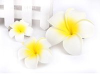 Wholesale frangipani artificial flowers for sale - Group buy Artificial Egg Flower Hawaiian PE Foam Frangipani Artificial Flower For Wedding Party Decoration Fake Egg Flower Bouquets