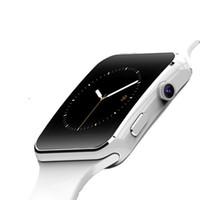 смарт-часы телефон facebook оптовых-X6 Bluetooth Smart Watch Поддержка SIM-карты TF WhatsApp Facebook Часы с камерой SmartWatch Мужские наручные часы для телефона Android