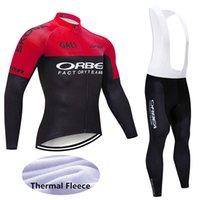 orbea bisiklet formaları toptan satış-2019 Pro Kış Termal Polar orbea Bisiklet Jersey Takım Elbise Ropa Ciclismo Mtb Uzun Kollu Erkekler Bisiklet Aşınma yarış bisiklet Giyim 121803Y