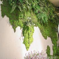 ingrosso tappetino artificiale per giardino-10 metri quadrati artificiale verde muschio piante tappeto erboso faux prati tappeti erbosi per giardino decorazione del partito casa