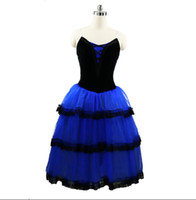 Wholesale spandex fairy costume online - Royal blue Fairy Ballet Long Tutu Dress Women Professional Ballet Tutu Adult Romantic Tutu yellow Ballet Stage Costume performance Girls