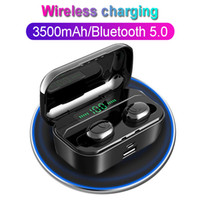 Wholesale displays for cell phones for sale - Group buy TWS G6S Wireless Headphones D Stereo Bluetooth Earphone LED Display Headset IPX7 Waterproof earburd mAh case for iphone