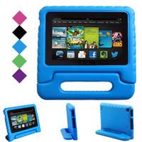 yumuşak kasa asus toptan satış-Çocuklar Çocuk Kolu Standı EVA Köpük Yumuşak Darbeye Tablet Kılıf Apple iPad Mini 2 3 4 Ipad Hava ipad pro 9.7