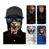 шейный платок bandana оптовых-Магия 3D бесшовные оголовье трубки шеи шарф животных Велоспорт маска для лица мотоцикл национальный флаг платок шарфы Хэллоуин бандана шейный платок