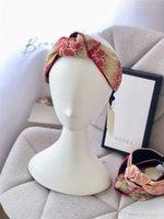 bandas de flor venda por atacado-Designer Cross Knot Largura Difícil Headbands para Mulheres Gradiente Cor Logotipo Impresso Cabelo Hoop Bloom Faixa de Cabelo com Original Box Meninas Idéias Do Presente