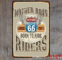 motosiklet kalay metal toptan satış-Retro BSA Motosikletler Altın Yıldız Metal Plaka Norton İzci Tabela Vintage Metal Poster Garaj Kulübü Pub Bar Duvar Dekorasyon