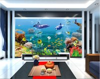 Wholesale fantasy room decor for sale - Group buy WDBH d wallpaper custom photo Fantasy tropical underwater world dolphin living room home decor d wall muals wall paper for walls d