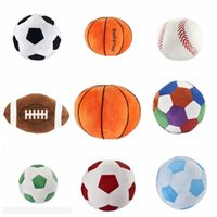 Wholesale gifts for baby boy party for sale - Group buy Kids sphere toys Cartoon spherical pillow Baby Plush Dolls Imitation football basketball baseball Toy For Boy Birthday Gift LXL755