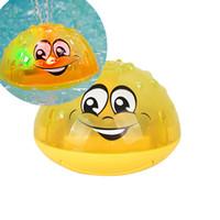 flutuadores de água do bebê venda por atacado-Elétrica de pulverização Bola Sensitive Água flutuante Squirt brinquedo para o bebê Crianças Bath Shower Fun brinquedo educativo LA227