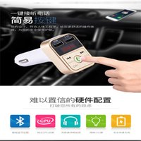 Wholesale portable mp3 player for car resale online - 2019 New B2 Wireless Car FM Transmitter Wireless Radio Dual USB Bluetooth Mp3 Player Support Handsfree Call Portable For Car