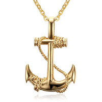 Wholesale pirate style necklaces for sale - Group buy European and American style men s stainless steel anchor pendant Caribbean Pirate anchor item pendant