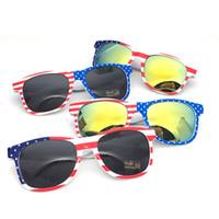 Wholesale beach sunshade sunglasses resale online - Children American flag Sunglasses Summer Fashion glasses Decorative kids Beach Sunshade products glasses sunblock LJJA2101