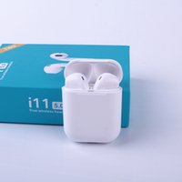 Wholesale earphones for sale - i11 tws bluetooth wireless bluetooth headphones ture stereo Earphones wireless headset earbuds with touch control for smartphones