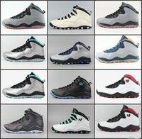 özgürlük basketbol ayakkabıları toptan satış-Yeni 10 erkek basketbol ayakkabıÇelik Gri CDP 10 S eğitmenler Toz Mavi Lady Liberty Chicago paris şehir paketi Sneakers ayakkabı