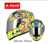 ls2 viseras de casco al por mayor-LS2 FF358 casco integral de moto Alex Barros motocross racing hombre mujer ls2 Original visera de sol multicolor aprobada por ECE