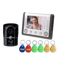 rouleaux de câble achat en gros de-Technologie de code à code défilant Blu-ray 433 permettant le déverrouillage de 16 types de sonnerie, interphone filaire, sonnette vidéo