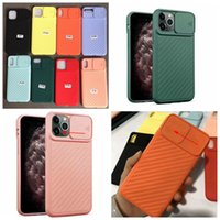 Wholesale hot new phone cases for sale – best Camera Protection Silicone Case For iPhone Pro Max XR XS MAX X Plus CamShield Soft TPU Vertical Grain Fashion Phone Cover New Hot