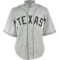 pedidos de camisetas de béisbol juvenil al por mayor-Texas Black Spiders 1938 Road Jersey Movie Baseball Jersey 100% Nombre cosido Número Logos para hombres Mujeres Juventud Mezcla orden Envío gratis