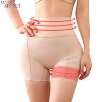 bragas de cintura alta para adelgazar al por mayor-SERCET DE CINTURA Mujer Cintura alta Mejorador de cadera Control firme Levantador de glúteos Fake Booty Panty Shorts Pantie Slimming Underwear