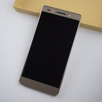 huawei lcd cam toptan satış-Huawei Onur 7 için Tam Dokunmatik Ekran Digitizer Sensörü Cam + LCD Ekran Monitör Modülü Paneli Meclisi + Çerçeve Çerçeve Konut