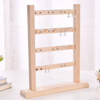 Wholesale necklace earring bracelet jewelry displays for sale - Group buy 4 Layer Accessories Home Jewelry Display Earrings Rack Findings Bracelets Show Wooden Organizer Practical Holder Necklaces Stand