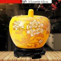 ingrosso mini vasi blu-Mini vasi di fiori in ceramica porcellana cinese blu e rosso giallo da Jingdezhen Exquisite Home Decoration E $