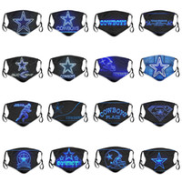 Wholesale 2020 new layer dust masks men and women rugby team Cowboys fashion ice hockey breathable D personalized custom face masks