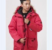 kürk mantolar xxl toptan satış-Yeni Erkek Down Jacket Kış Coat Fur Kapşonlu Ceketler Erkekler Açık Moda Günlük Kapşonlu Kalınlaşmak XS-XXL